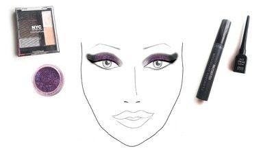 How to create a glitter eye. Dramatic Glittery Smokey Eye - Step 3