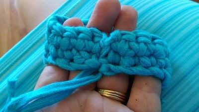 How to stitch a knit or crochet bracelet. Mixtape Bracelet - Step 5