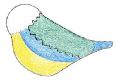 How to make a bird plushie. Needle Felt Blue Tit - Step 9