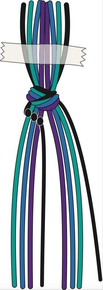 How to braid a friendship bracelet. Peacock Feather Friendship Bracelet - Step 3