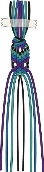How to braid a friendship bracelet. Peacock Feather Friendship Bracelet - Step 10