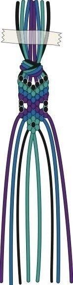 How to braid a friendship bracelet. Peacock Feather Friendship Bracelet - Step 11