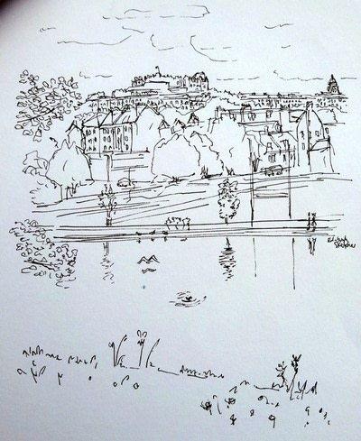 How to paint a landscape. Landscape Drawing - Step 1