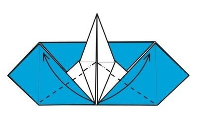 How to make an envelope. Flapping Bird Envelopes - Step 13