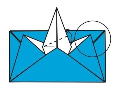 How to make an envelope. Flapping Bird Envelopes - Step 15