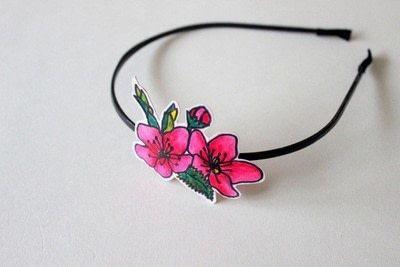 How to make a hairband / headband. Floral Headbands - Step 4