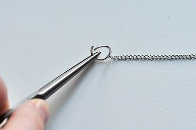 How to make a spike necklace. Anthropologie Inspired Necklace - Step 7
