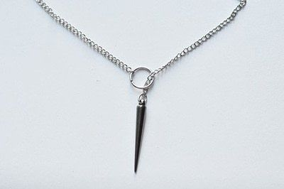 How to make a spike necklace. Anthropologie Inspired Necklace - Step 9