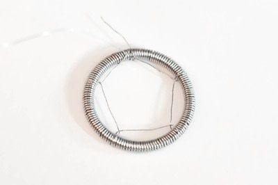 How to make a dream catcher pendant. Wire Dream Catcher Necklace - Step 6