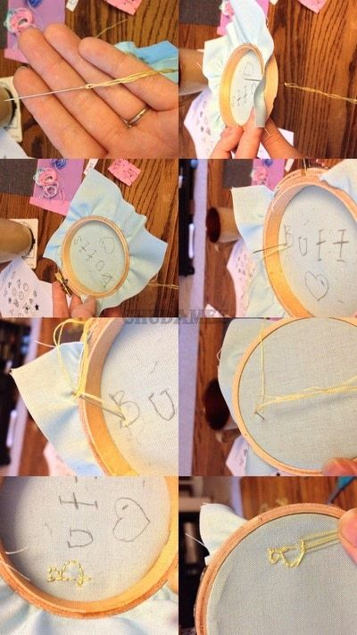 How to embroider art. Humorous Embroidery Using Dandelyne Tiny Hoop - Step 4