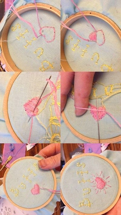 How to embroider art. Humorous Embroidery Using Dandelyne Tiny Hoop - Step 6