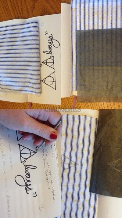 How to make a stitched necklace. Dandelyne Tiny Hoop Deathly Hallows Necklace - Step 2