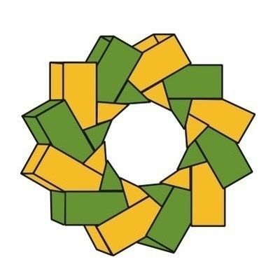 How to make a recycled wreath. Calendar Wreaths - Step 20