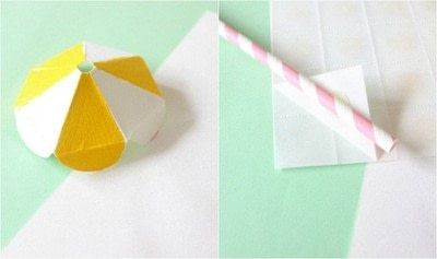 How to make decorative tablewear. DIY Straw Umbrellas! - Step 3