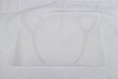 How to make a stitched cushion. Glow In The Dark Animal Ear Pillows - Step 3