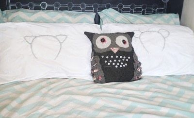How to make a stitched cushion. Glow In The Dark Animal Ear Pillows - Step 11
