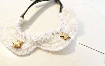 How to make a pet collar/leash. Peter Pan Cat Collar - Step 11