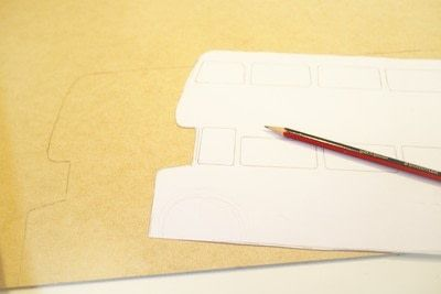 How to make a recipe holder. Routemaster Bus Cookbook Holder - Step 2