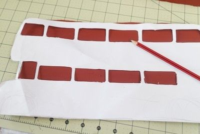 How to make a recipe holder. Routemaster Bus Cookbook Holder - Step 9