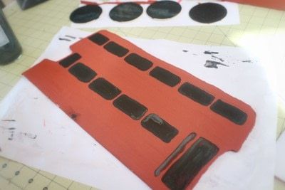 How to make a recipe holder. Routemaster Bus Cookbook Holder - Step 10