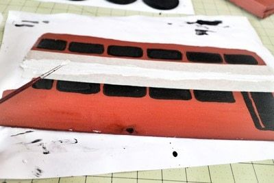 How to make a recipe holder. Routemaster Bus Cookbook Holder - Step 11