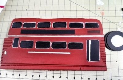 How to make a recipe holder. Routemaster Bus Cookbook Holder - Step 15