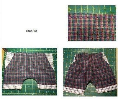 How to make shorts. Kids Harem Shorts - Step 5