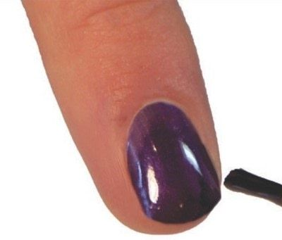 How to paint an embellished nail manicure. Velvet Texture Nails - Step 1