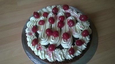 How to bake a Black Forest Cake. Black Forest Cake - Step 9
