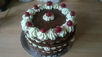 How to bake a Black Forest Cake. Black Forest Cake - Step 10