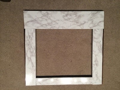 """How to make a fireplace. Family Room """"Built Ins"""" With Marble Fireplace Surround - Step 1"""