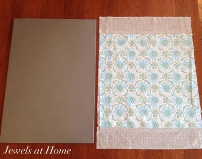 How to make a magnetic board. Fabric Covered Magnet Board - Step 1