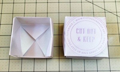 How to fold an origami box. Origami Bakery Boxes - Step 17
