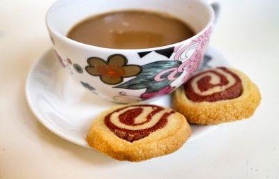 How to bake a pinwheel cookie. Red Velvet Swirl Cookies - Step 12