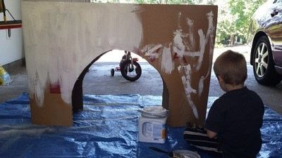 How to make a babies & kids. Cardboard Arc De Triomphe - Step 2