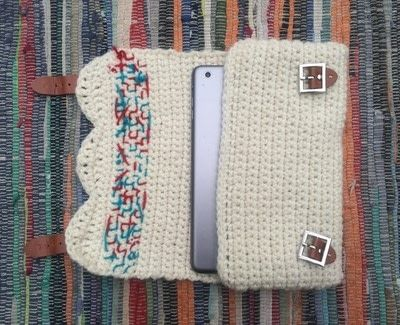 How to make a tablet sleeve. Crocheted Tablet Cover - Step 2