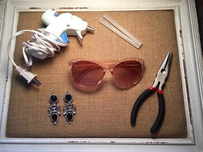 How to make a pair of sunglasses. Create Your Own Glam Sunnies! - Step 1