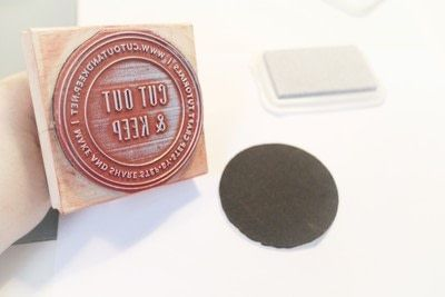 How to paint a painted coaster. Glitter Embossed Coasters - Step 5