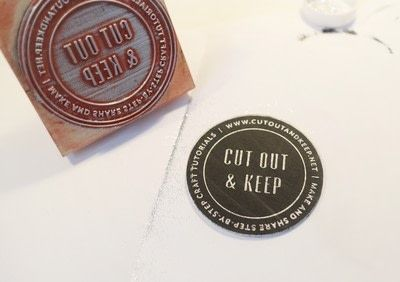 How to paint a painted coaster. Glitter Embossed Coasters - Step 7