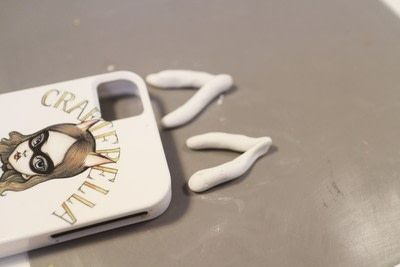 How to make a phone case. Animal Ear Phone Case - Step 4