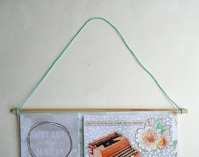 How to make a hanging. Vision Board Wall Hanging Diy - Step 7