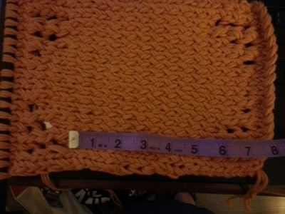 How to stitch a knit or crochet bag. School Supplies Tote - Step 4