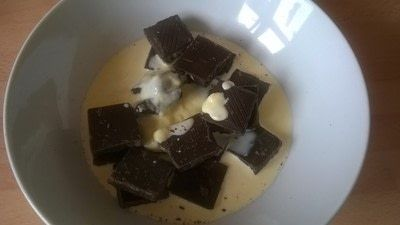 How to make a truffle. Malted & Vanilla Chocolate Truffles  - Step 3