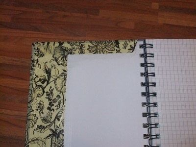 How to make a paper book cover. Notebook Cover Made Of Paper - Step 4