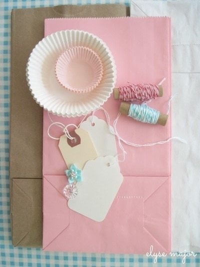 How to make a gift bag. Tinkered Lunch Sack - Step 1