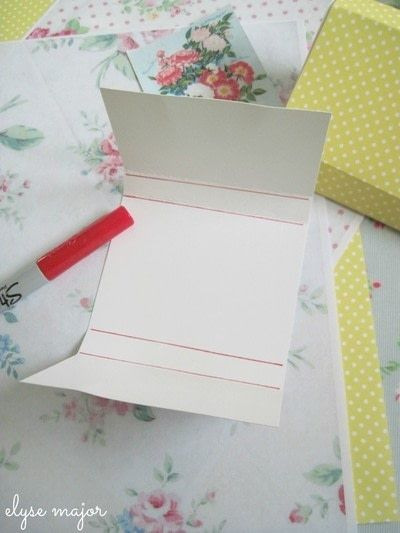 How to make a napkin / napkin ring. Tinkered Card Stock - Step 1