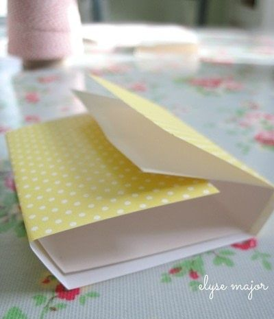 How to make a napkin / napkin ring. Tinkered Card Stock - Step 2