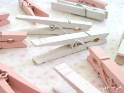 How to make a clips. Tinkered Wooden Clothespins - Step 1