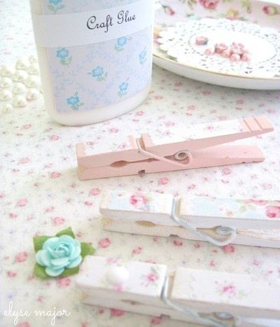 How to make a clips. Tinkered Wooden Clothespins - Step 3