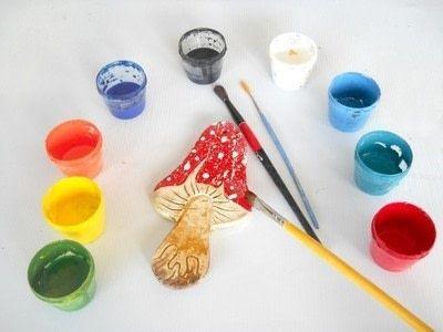 How to make an ornament. Clay Mushroom Tutorial - Step 5